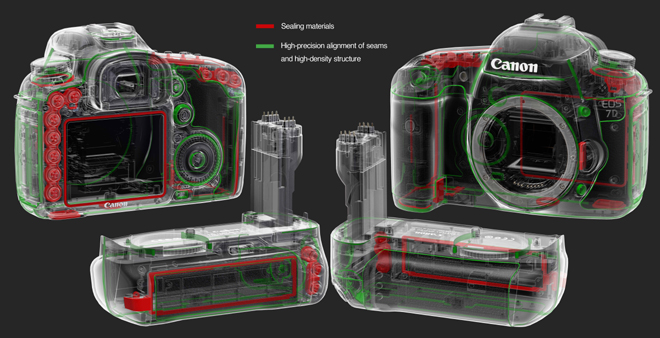 Canon EOS 7D - dust and water resistant construction